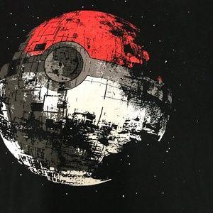 Death Star Pokeball T-Shirt Star Wars T-shirt Sz L